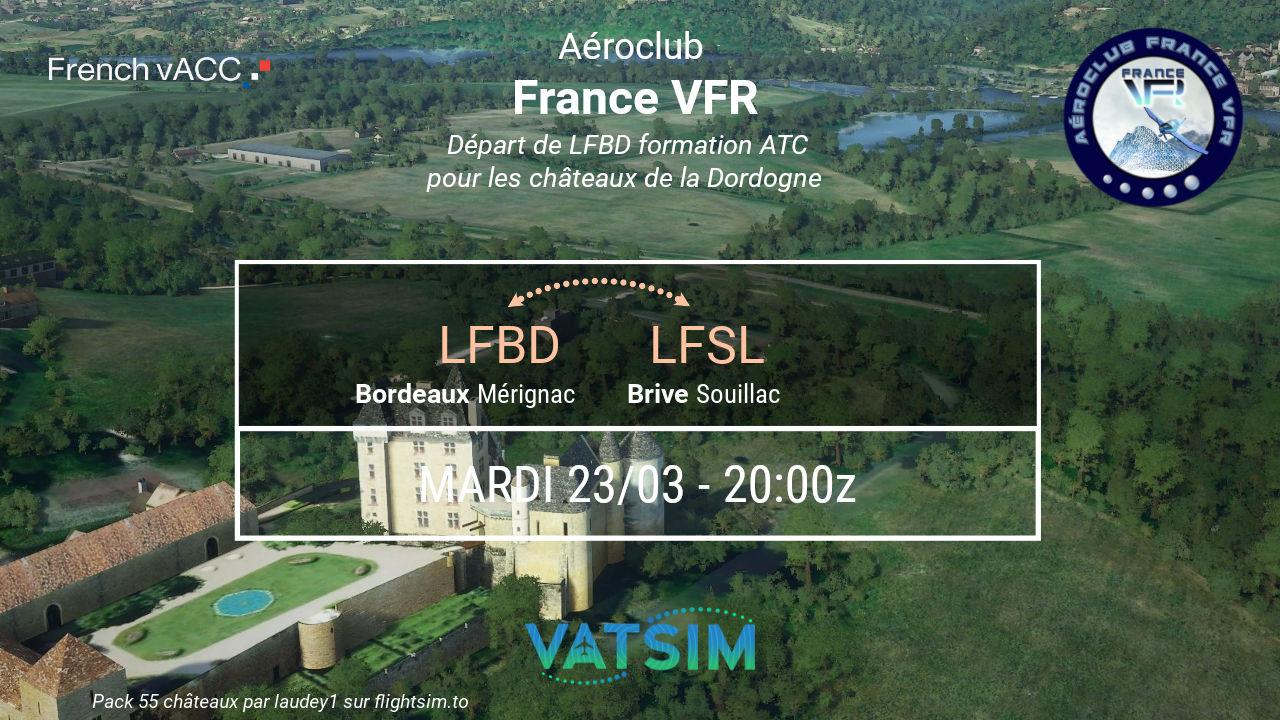Mardi 23 mars 2021 - VFR de Bordeaux…