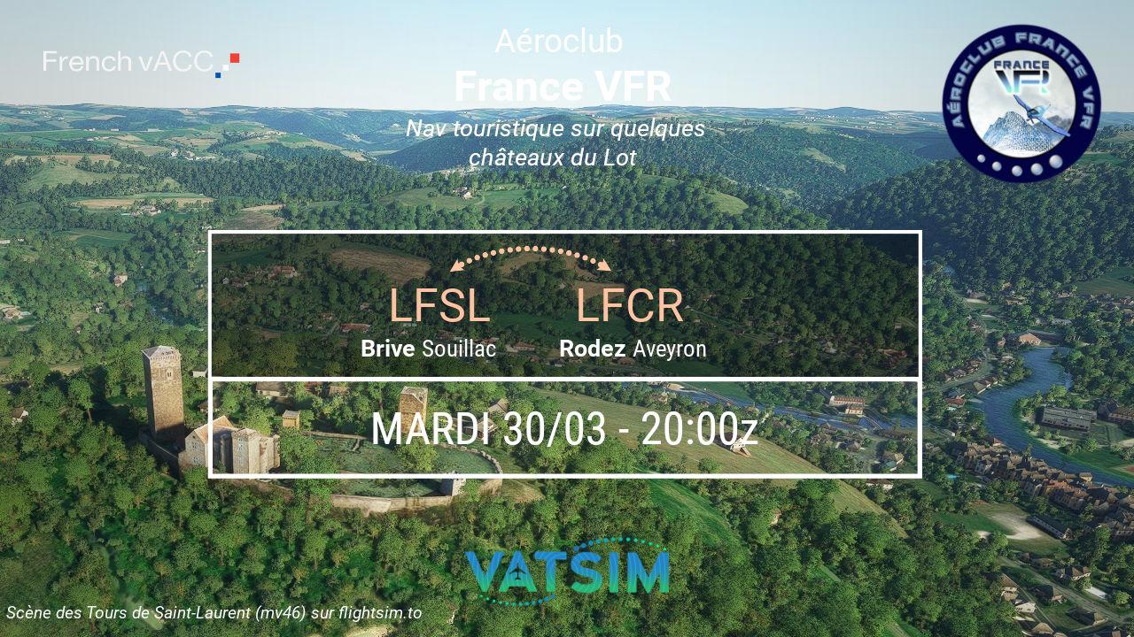Mardi 30 mars 2021 - VFR de Brive Souillac…
