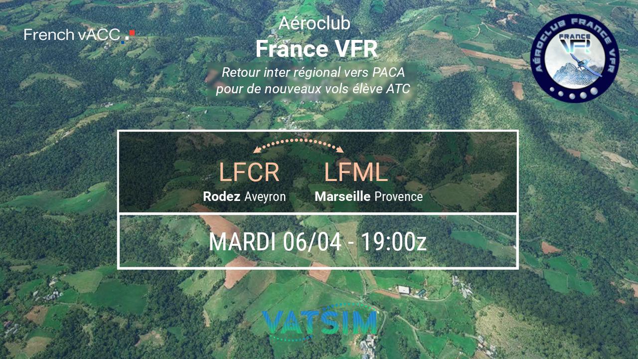 Mardi 06 avril 2021 - VFR de Rodez LFCR…