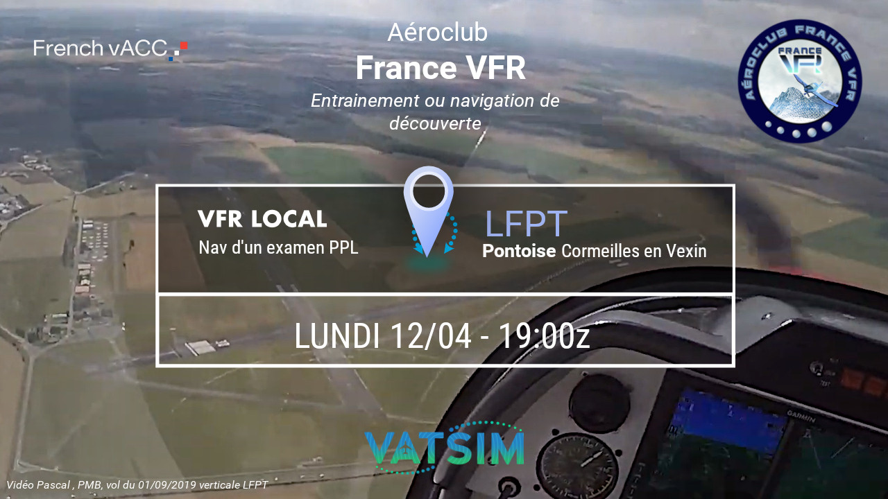 Lundi 12 avril 2021 - VFR de PPL autour…
