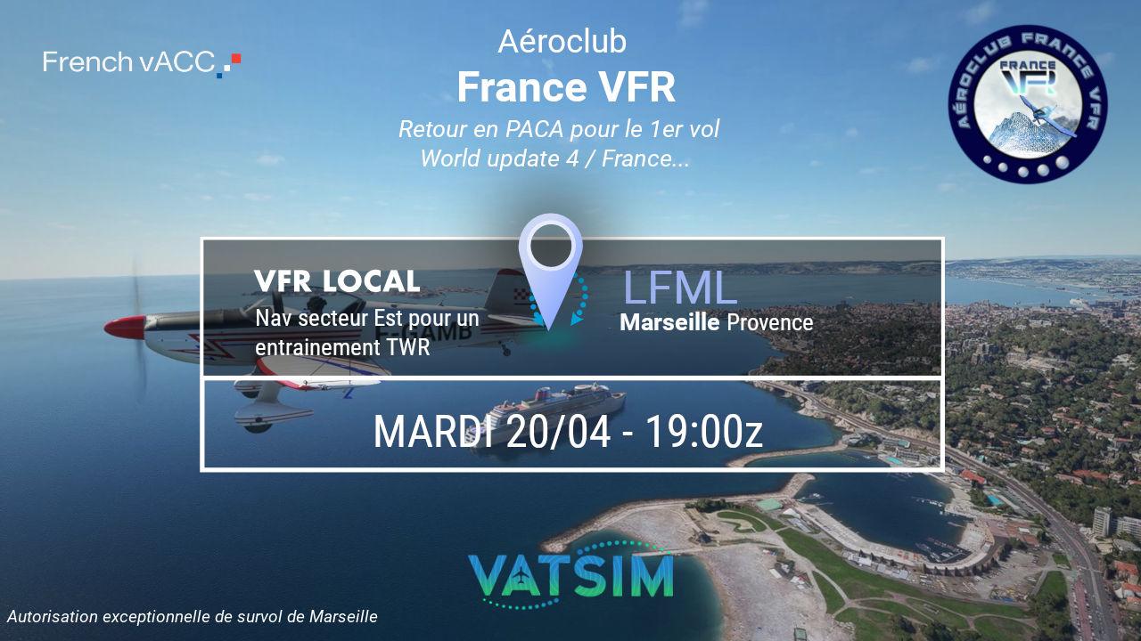 Mardi 20 avril 2021 - VFR autour de Marseille…